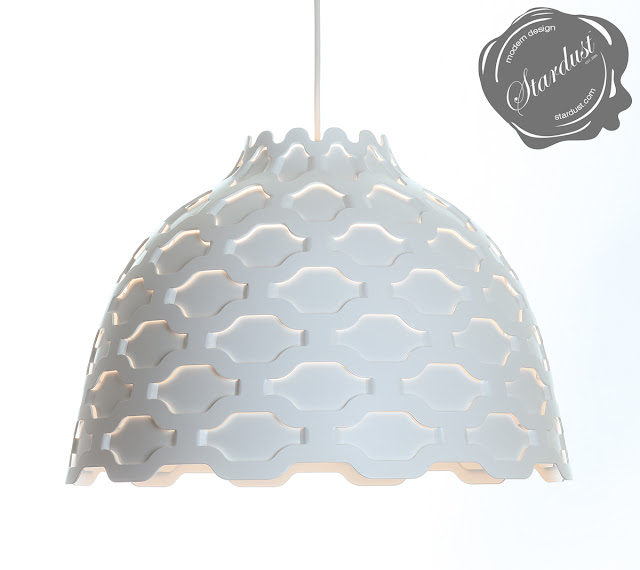 The LC Shutters in White.  A beautiful white pendant lamp light fixture suitable for a wide variety of applications.