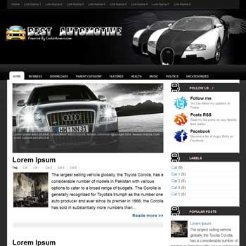 Best Automotive Blogger Template