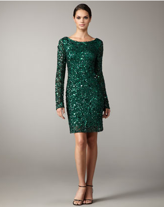 emerald green sequin dress - Dress Yp