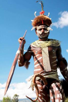 Kepala / Panglima perang Suku Dani