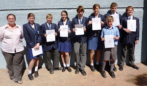 Mathematics Competition Teams with teacher Mrs Donaldson