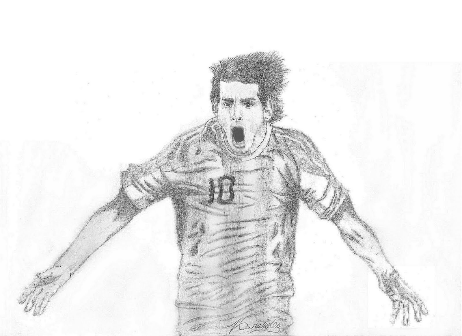 Worksheet. Leonel Messi in black and white  COLOR AREA
