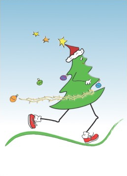 Christmas Tree With Running Shoes