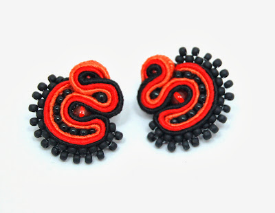 kolczyki sutasz soutache earrings 3