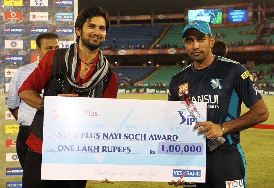 Robin-Uthappa-Nayi-Soch-Award-DD-vs-PWI-IPL-2013