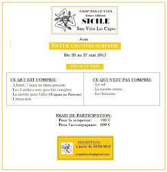CROP DOLCE VITA                DU 20 AU 27 MAI 2017