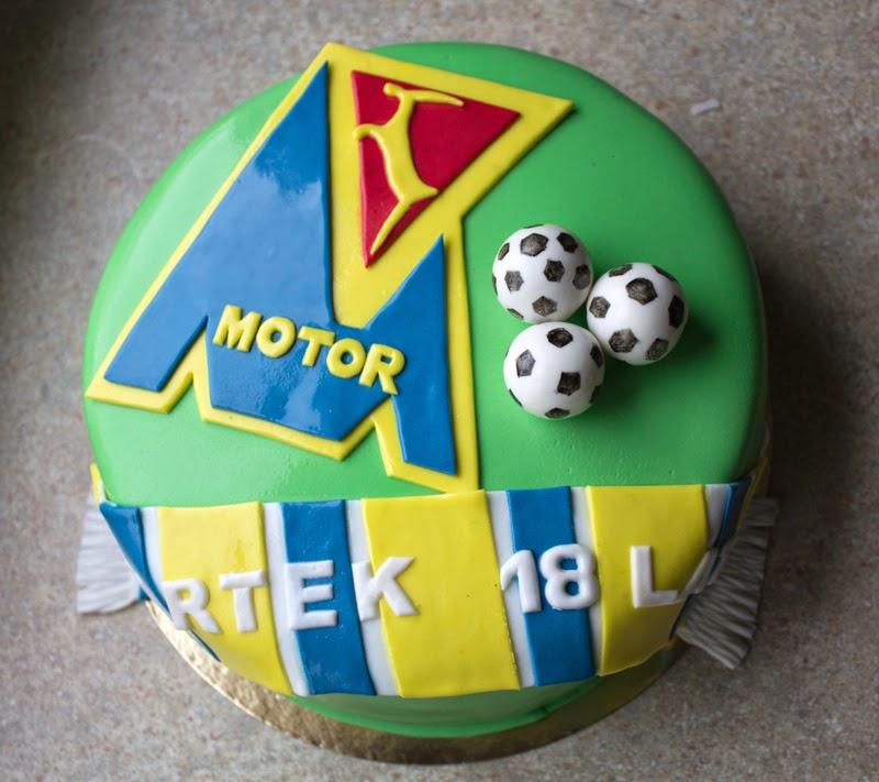 Tort osiemnaste urodziny Motor Lublin dla Bartka