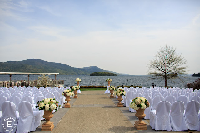 The Sagamore Wedding - Lake George, NY - Flowers - Ceremony Decor