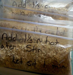 Instant oatmeal packets, how to make your own oatmeal, frugal living tips, frugal recipe,