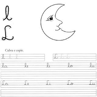 atividade caligrafia letra l