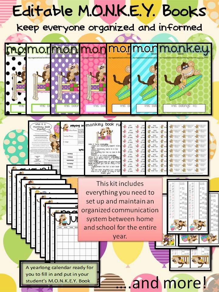 http://www.teacherspayteachers.com/Product/Editable-Monkey-Binder-Yearlong-Communication-Kit-for-Back-to-School-280190