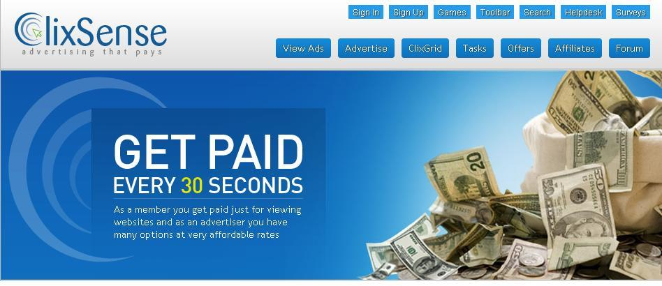 5 Cara Mendapatkan Uang Dari Clixsense : Cepat Banyak Lewat/Melalui PTC