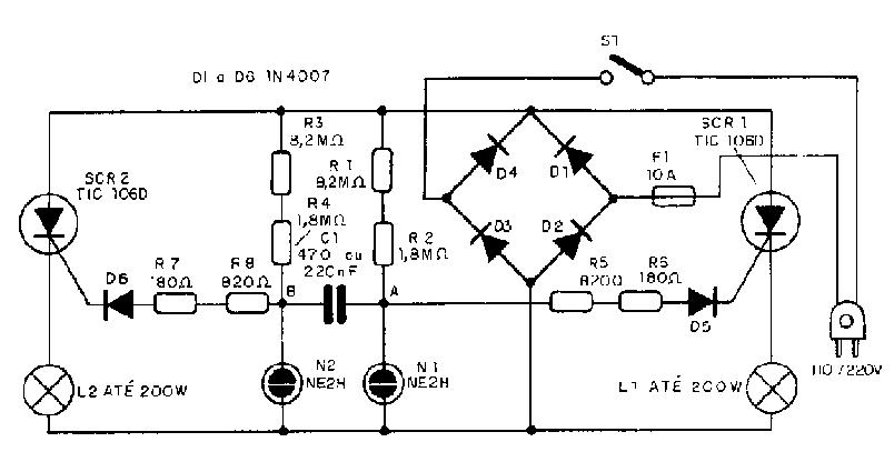 Circuito Eletronica : Eletrônico circuito com leds