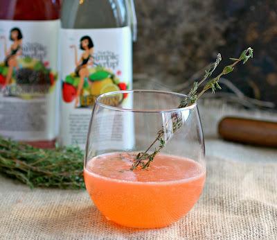 Strawberry Thyme Gin Fizz
