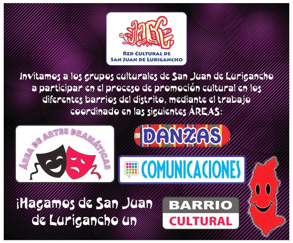 ÁREAS DE LA RED CULTURAL DE SAN JUAN DE LURIGANCHO