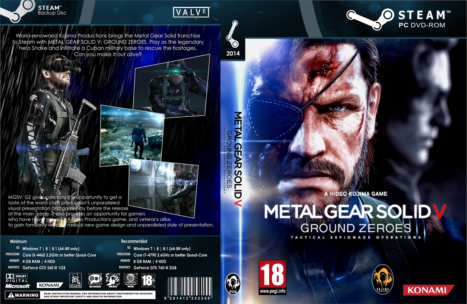 Capa Metal Gear Solid V Ground Zeroes PC