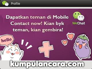 WeChat Cara tambah teman