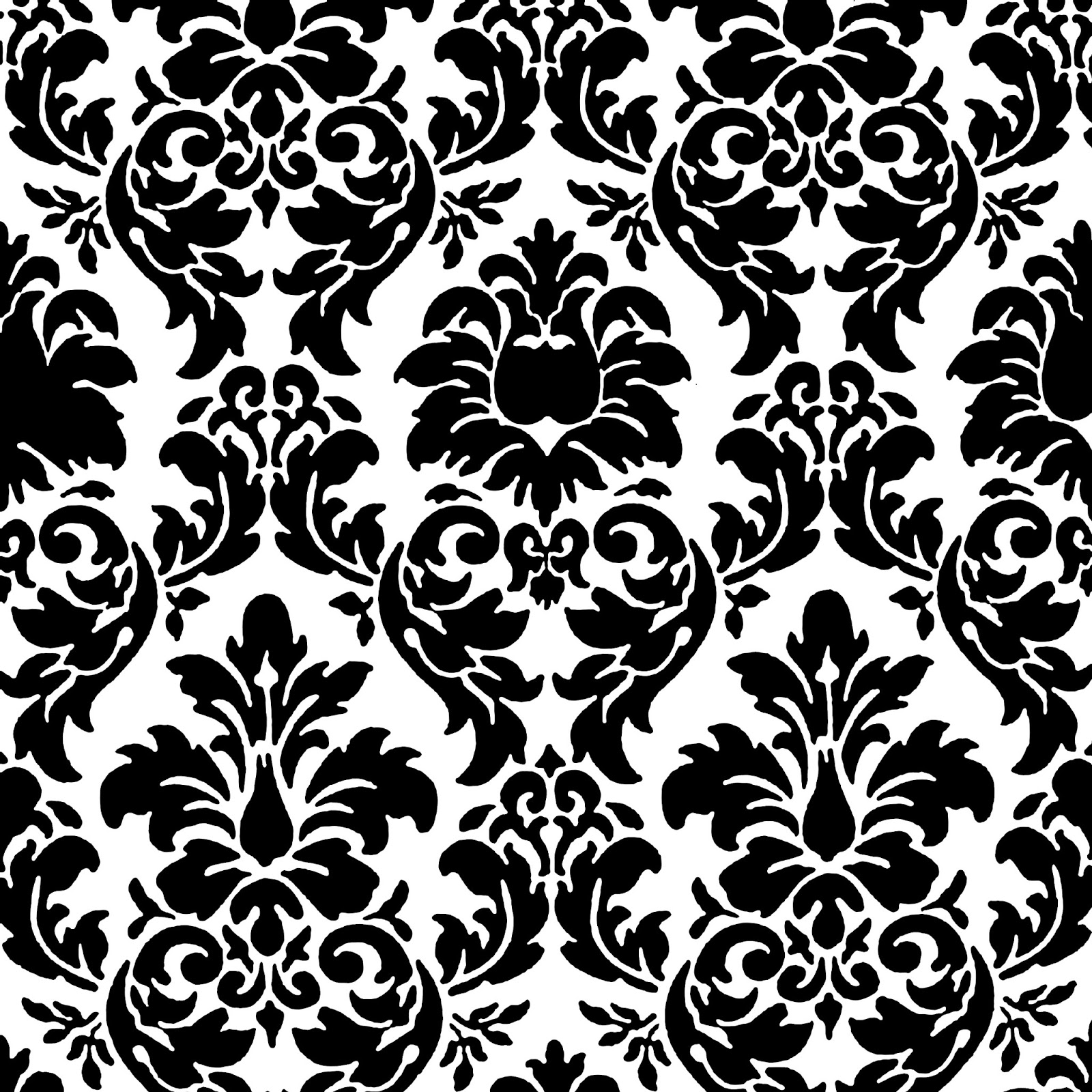 Red and black damask border long hairstyles for Black white damask wallpaper mural