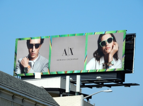 Armani Exchange Summer 2015 billboard