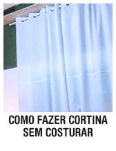Como fazer cortina sem costurar