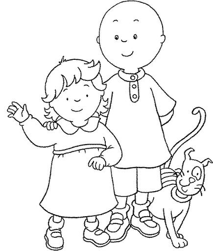 Blog de los niños: Caillou y la muñeca de Rosie