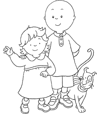 Caillou Gilbert Coloring Pages – Colorings.net
