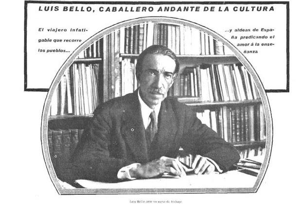 1928. LUIS BELLO y la instrucción pública en QUESADA