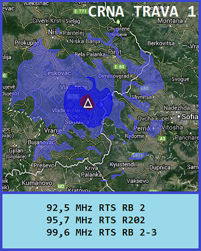 Mapa pokrivenosti Crna Trava 1