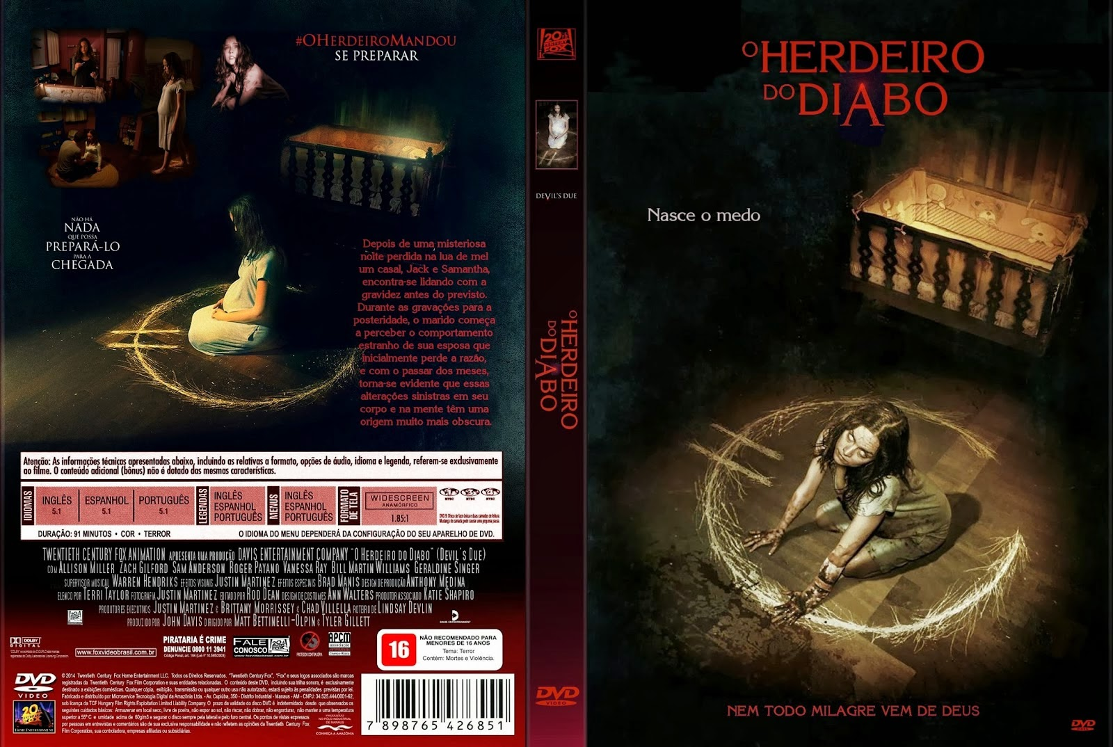 Filme - O Herdeiro Do Diabo DVD Capa