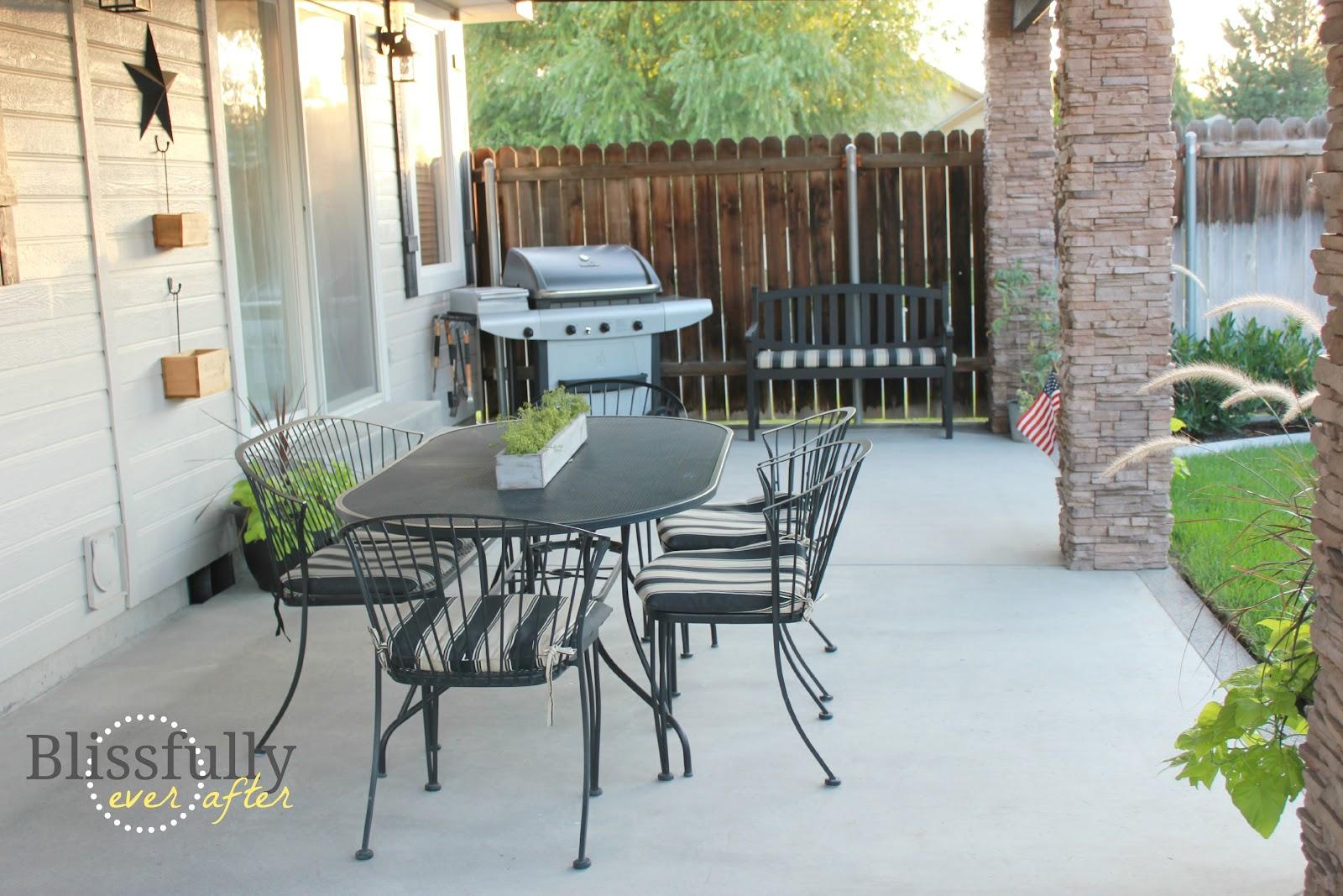 Diy backyard makeover grace filled interiors for Deck makeover on a budget