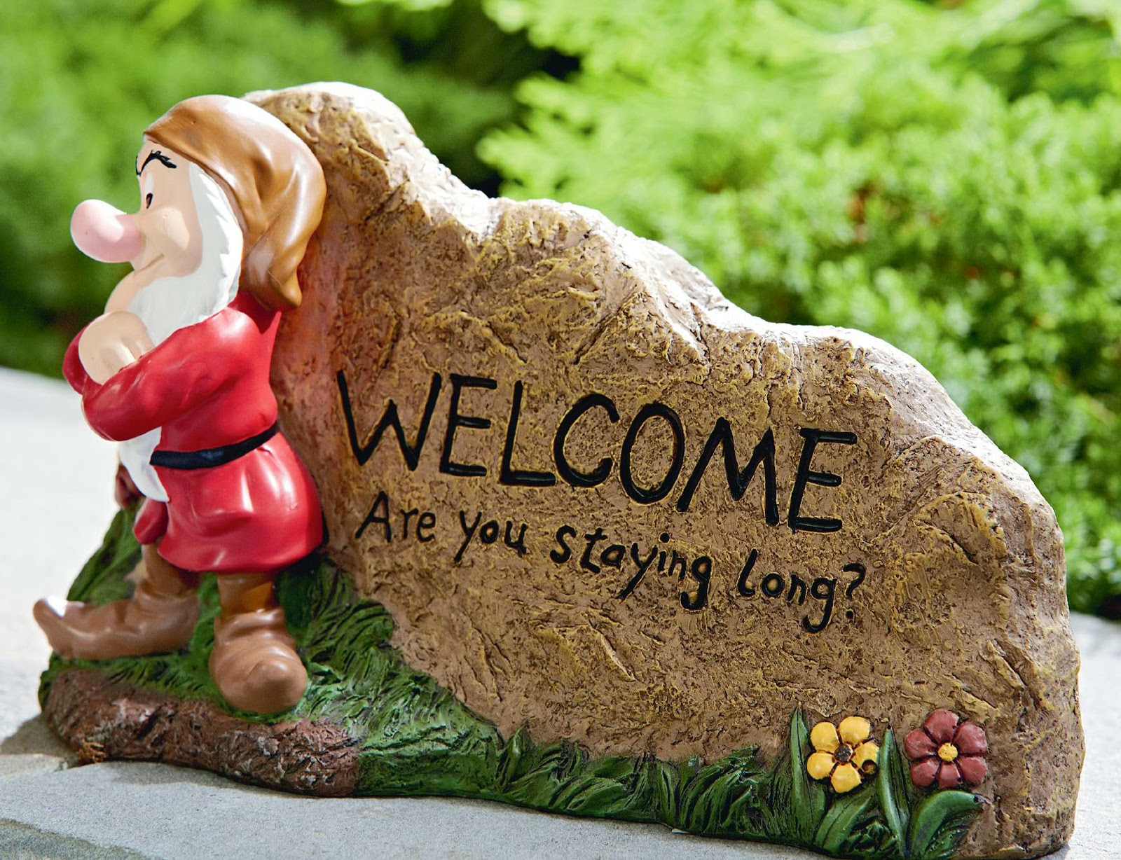 Filmic Light - Snow White Archive: Resin Welcome Rocks & Garden Statue