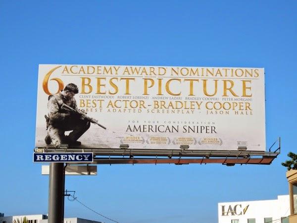 American Sniper Oscar nominee billboard