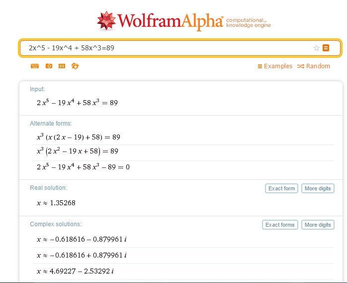 حل المعادلات والمسائل الرياضية مهما كانت درجة صعوبتها مع إظهار خطوات الحل Scientific Calculator wolframalpha