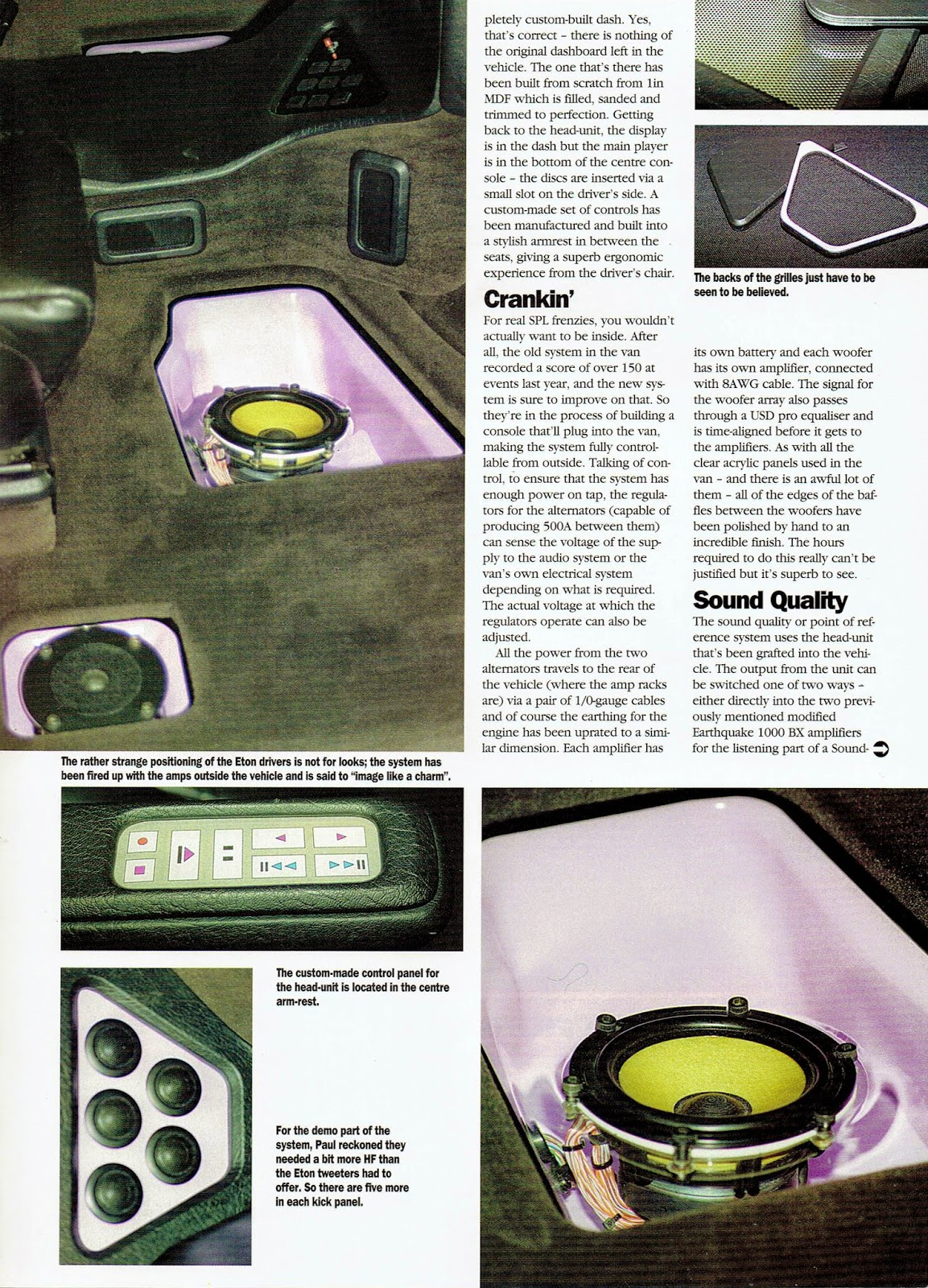 Image of British Car Stereo & Security magazine's Son of Seismic II article - second page
