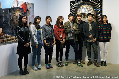 Graphic Design university students with artist Ben Heine - Art Exhibition in Seoul via INMD