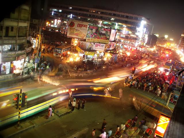 A night view of the dhaka city bangladesh