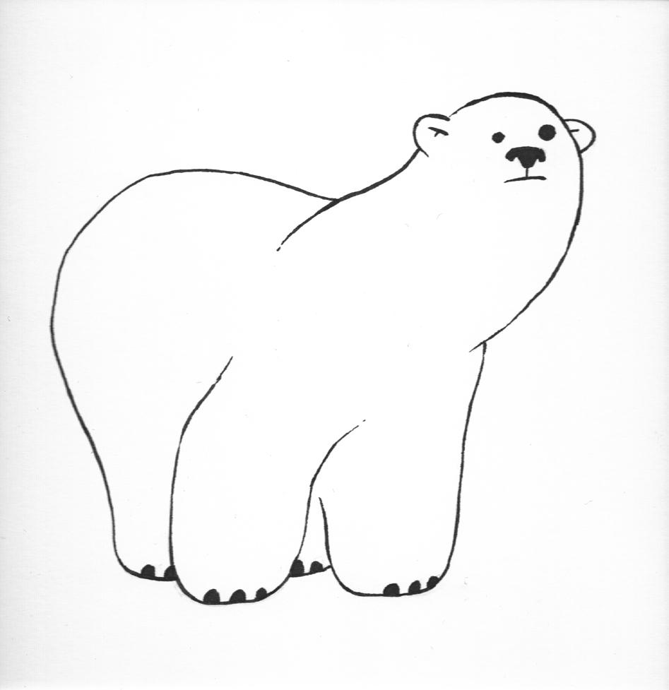 how to draw a polar bear habitat