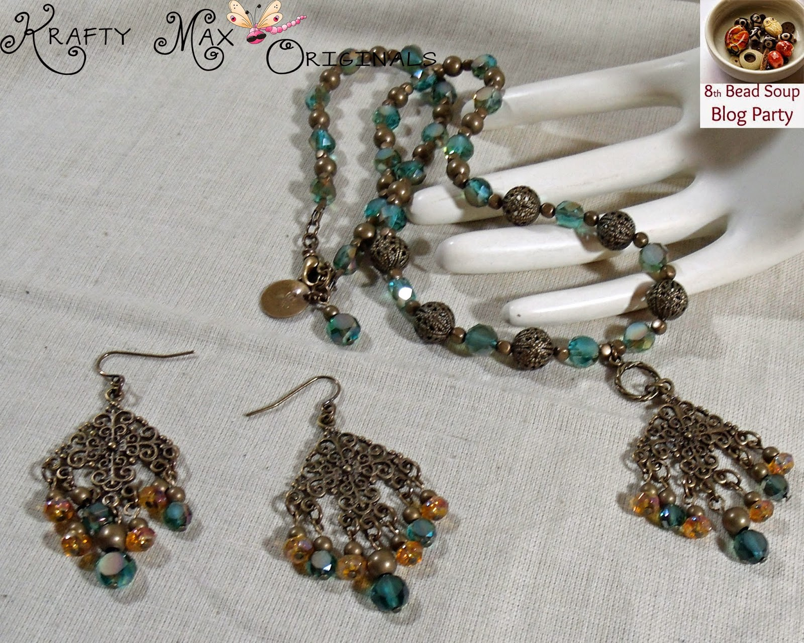 http://www.artfire.com/ext/shop/product_view/KraftyMax/9277181/8th_bead_soup_blog_party_-_teal_fan_dangle_neclace_and_earrings/handmade/jewelry/sets/crystal#