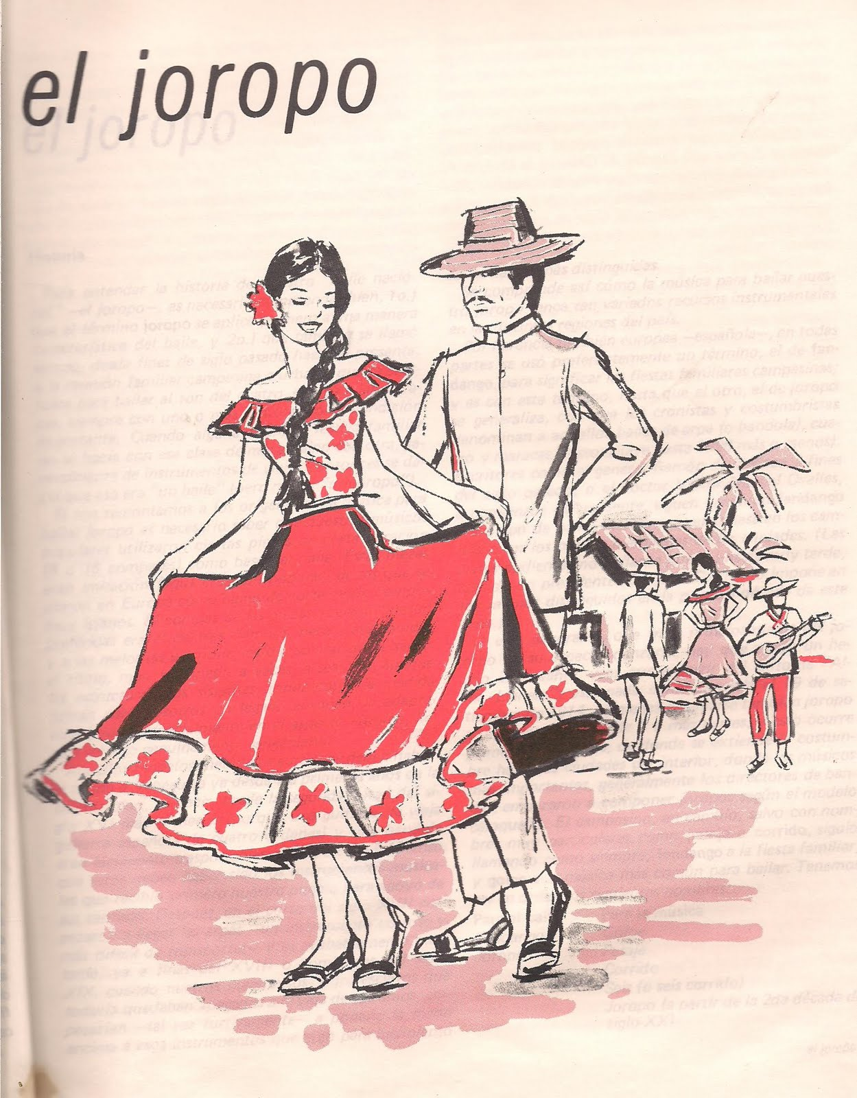 Dibujo Bailando El Joropo Llanero