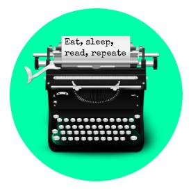 Eat, sleep, read, repeate