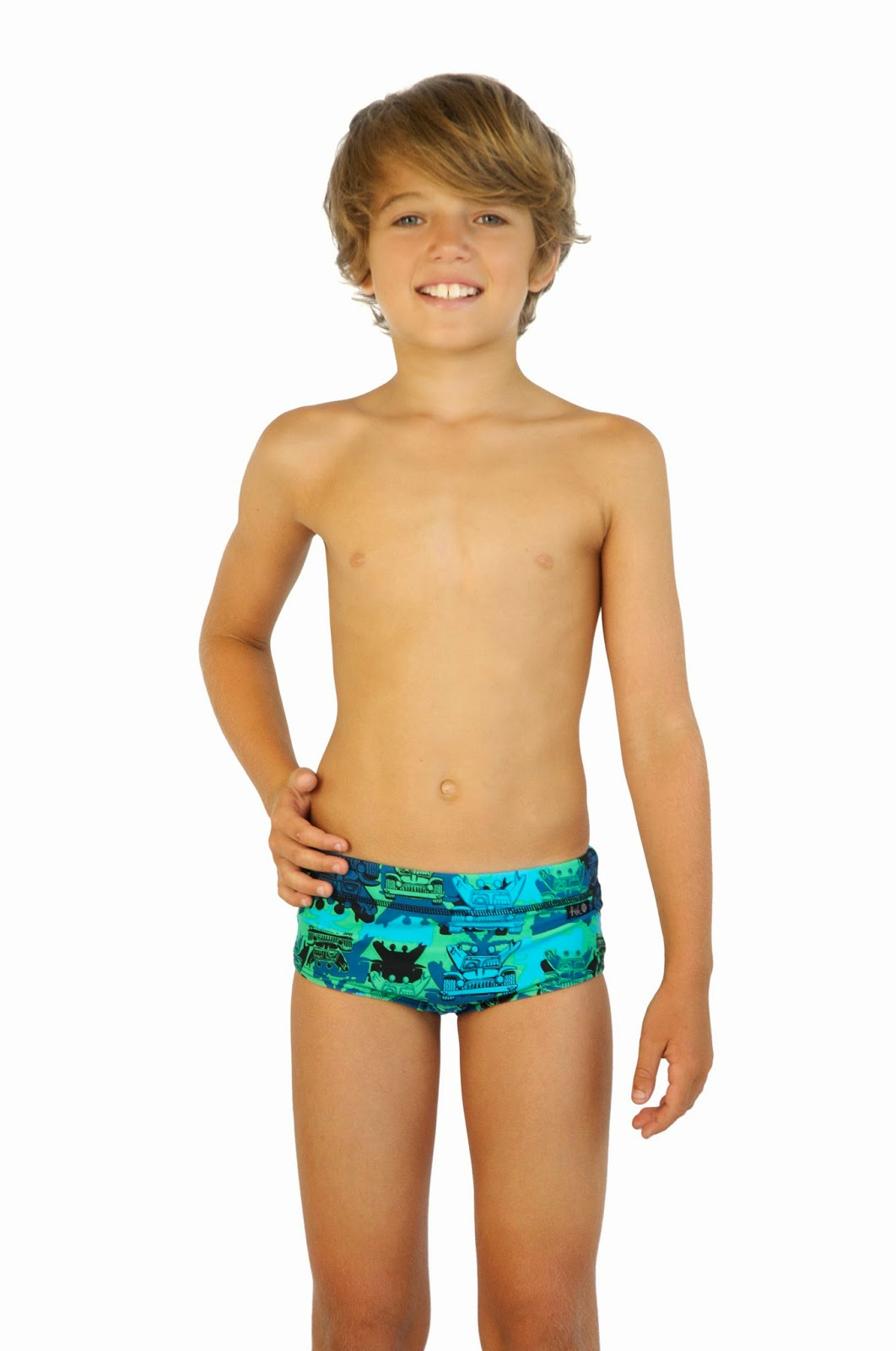 Swim Jammer - Boys Youth Sizes 21 to 32 in Black, Navy, and Blue