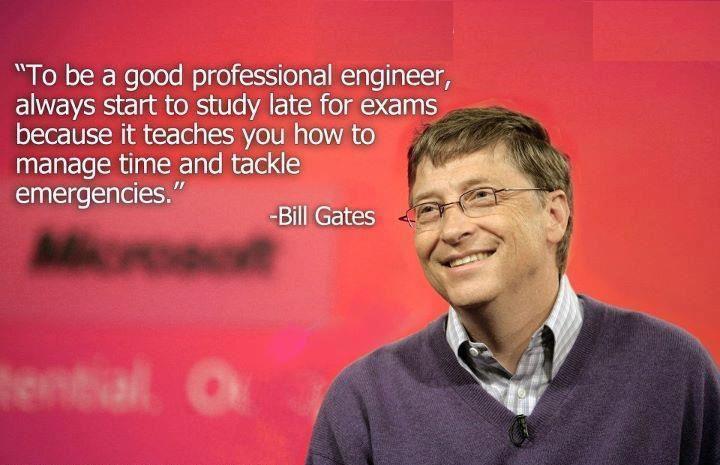 Bill Gates recomienda estudiar los exámenes tarde