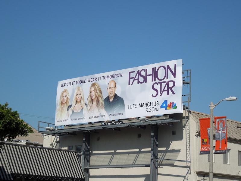Fashion Star NBC billboard