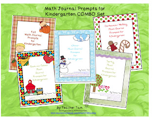 http://www.teacherspayteachers.com/Product/Math-Journal-Prompts-for-Kindergarten-COMBO-Pack