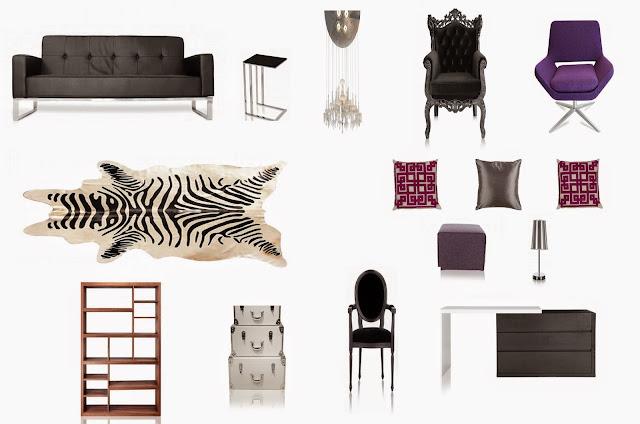 My Dream Living Room!: Furniture from Modani, lifestyle, home, decor, decoration, design, toronto,ontario, canada, zebra, rug, chairs, sofa, pillows, cushion, desk, work, lamp, chandelier, lighting, the purple scarf, melanieps