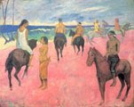 Paul Gauguin (54 años) - Jinetes en la playa (1902)