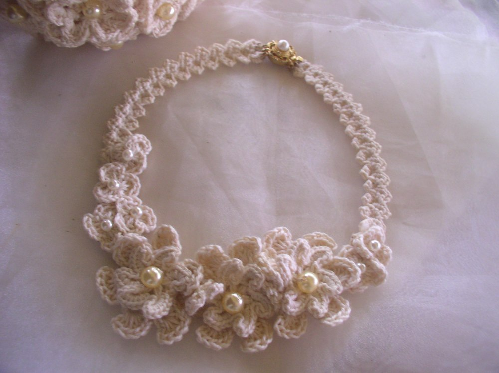 Free Crochet Wedding Jewelry Patterns : Creazioni Rita C. ... Only Handmade!: Qualche Bijoux a ...