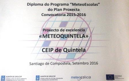 Proxecto de Excelencia do Programa MeteoEscolas