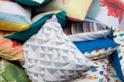 Modern and colourful cushions by Ella Doran