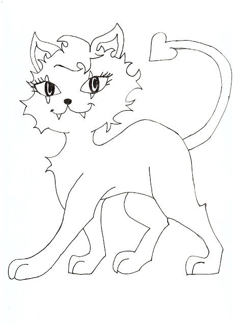 free clawdeen wolf as baby coloring pages